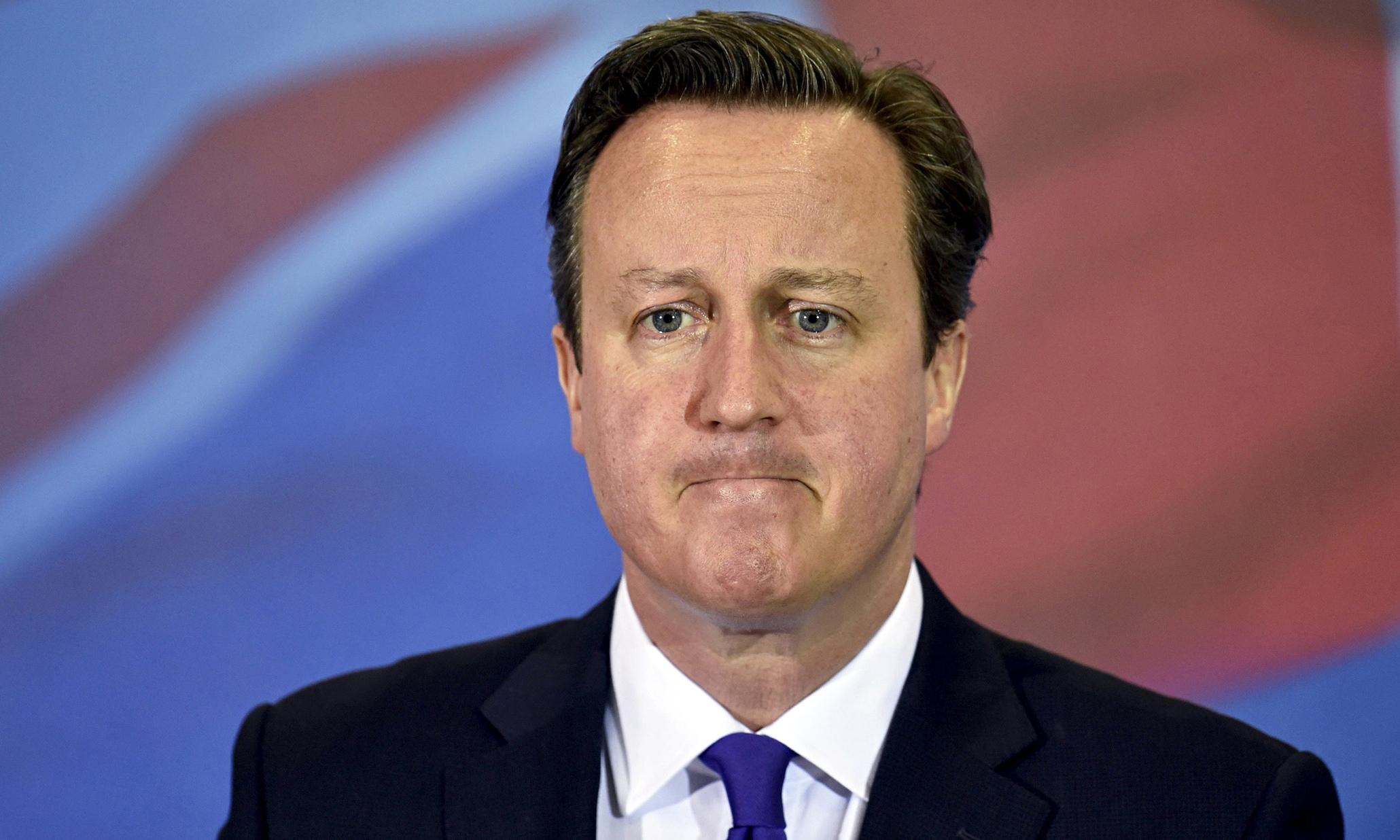 David Cameron looking nervous