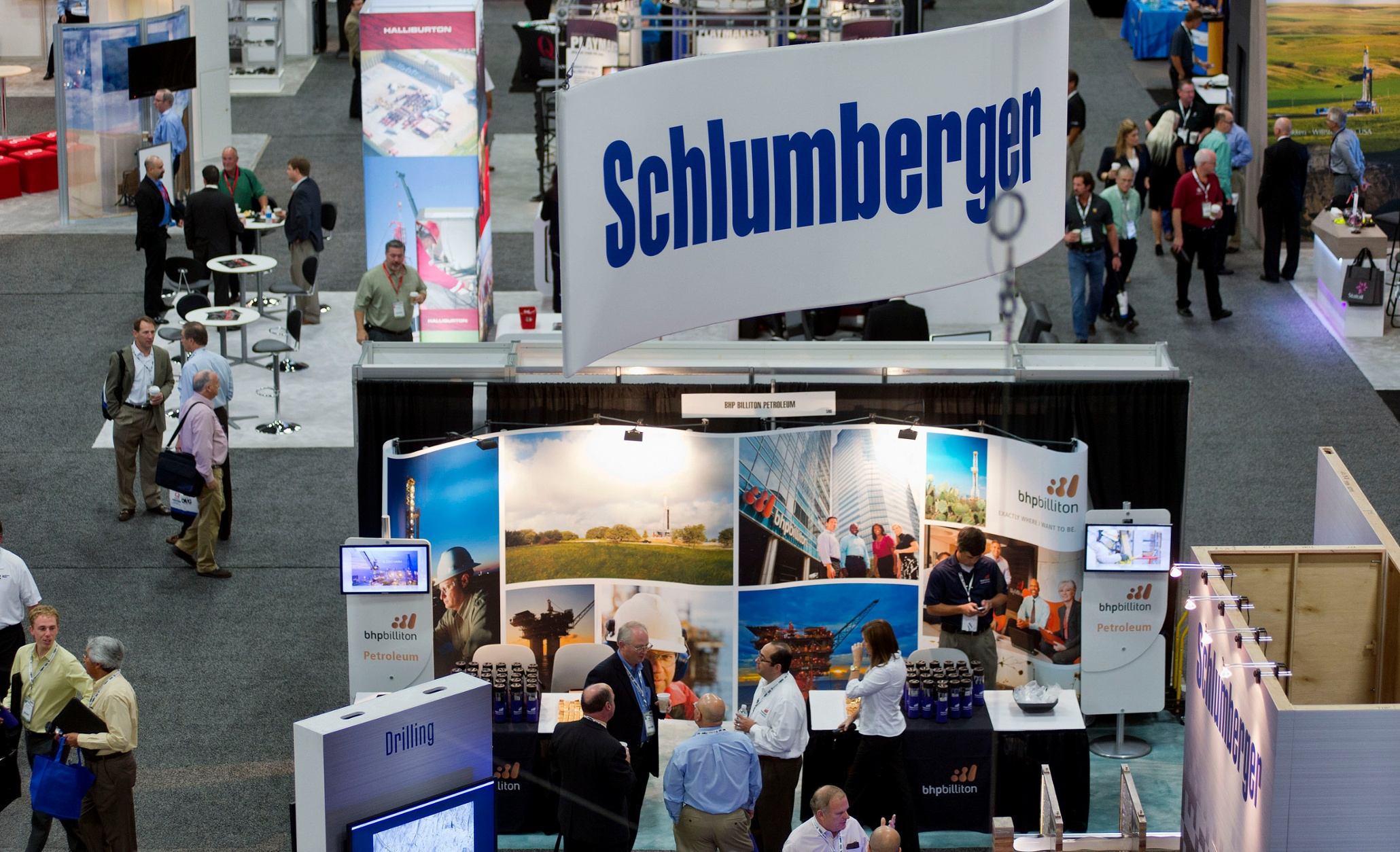 Exhibition Stall Types : Where there is oil and gas schlumberger