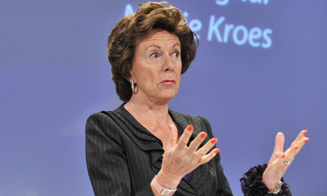 Neelie Kroes: 'observing political reality' over Acta. Photograph: Georges Gobet/AFP/Getty Images