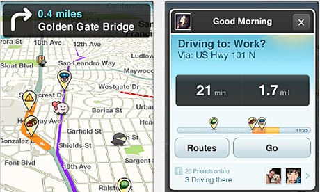 Google and Facebook in bidding war over Waze travel app company