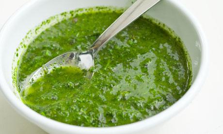 ... classic salsa verde. Photograph: Jonathan Lovekin for the Observer