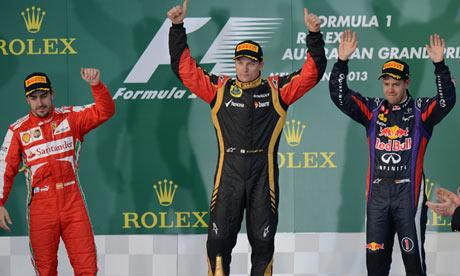 F1: Kimi Raikkonen defies tired tyres to win Australian Grand Prix