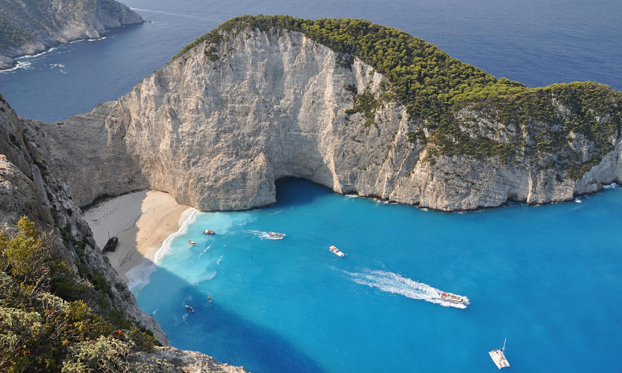 Greek island holiday g...